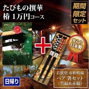 《ペア箸セット》たびもの撰華 椿(つばき)10000円